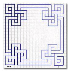 Blue geometric graph paper