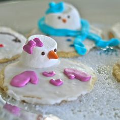e is for eat: M is for: Melted Snowman Cookies {& Merry Christmas!}