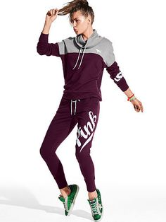 Please click on the picture to go to the detail page. PINK Lace-Up Skinny Collegiate Pant