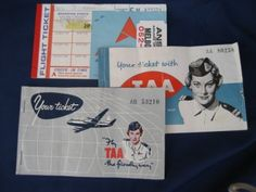 vintage airline tickets