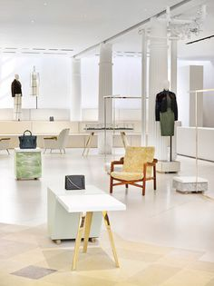 Unexpected : Material Combination (noble & common material) Phillip Lim New York flagship store by Campaign
