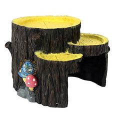 Reptile Hide, Petforu Tree Stump Shaped Pet Habitat Décor Hideouts Reptile Cave Turtle House BETTER BASKING PLATFORM THEN HIDE, a basking spot for a turtle or something else to climb up on. NON-TOXIC RESIN Hideout for Bearded Dragon, Lizards, Frogs, Box Turtles, Frogs, Snakes and so on. HIDEOUT FOR YOUR PET! Great addition to any reptile/invertebrate tank! https://pets.boutiquecloset.com/product/reptile-hide-petforu-tree-stump-shaped-pet-habitat-decor-hideouts-reptile-cave-t