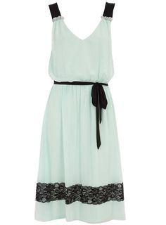 Mint lace overlay dress