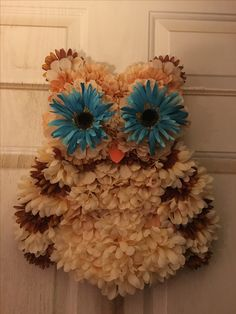 Owl Wreath $35 made by Sandy Byerly, Family Time Crafts (follow me on Facebook)