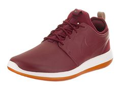 promo code 0ed9a 7497b Nike Mens Roshe Two Leather PRM Team RedTeam RedWhite Running Shoe 8 Men US