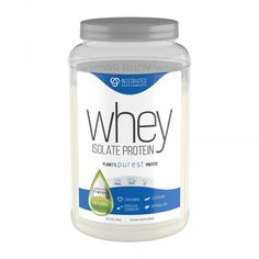 Integrated Supplements offers the planet's Purest Whey Isolate Protein. Low Sodium, Gluten Free, Kosher. 20g of protein per serving! Buy premium flavors at HerSUPPZ.com!