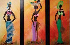 Watercolor Scenery, Watercolor Ocean, African Art Paintings, African Dolls, Art Africain, Africa Art, African American Art, Acrylic Art, Black Art