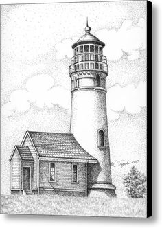 Cape Blanco Lighthouse Canvas Print / Canvas Art By Lawrence Tripoli