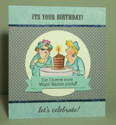Weight Watchers....Art Impressions Girlfriends Out to Lunch Set of 4 (Sku#3576) birthday card.