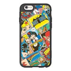 iPhone 6 Plus/6/5/5s/5c Case - DC Retro Comic Strip ($40) ❤ liked on Polyvore featuring accessories, tech accessories, iphone case, apple iphone cases, comic book, cartoon iphone case and iphone cover case