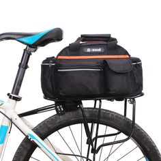 1 X Cycling Bike Rear Seat Bag. Bike rear seat bag with a main pocket, three insert pockets and a bottle pocket. Water bottle bag design, it can adjust and fasten by the retractile rope. If item is defective after 3 months, you can still send it back to us. | eBay!