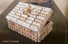 Декор предметов Мастер-класс Новый год Ассамбляж Шкатулка из пробок фото 1