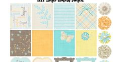 Welcome back for another Freebie Friday. This week I am back with a Teal, Yellow, and Orange colored sampler, which coincidentally happens t...