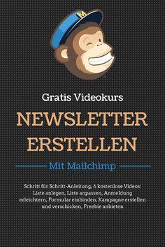Gratis Videokurs: Newsletter erstellen mit Mailchimp! #BfsF #Newsletter #Mailchimp #Tutorial #Anleitung