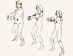 Poder interno, salud, meditación de pie