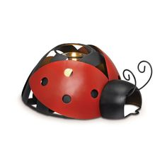 Ladybug Hanging Votive Holder Sweet little miss to display three ways – use tabletop, as a wall sconce or hang from the removable chain.