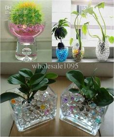 Wholesale water gel for plants, colorful water gel for vases and water gel pearls in different cute shapes, buy some crystal magic mud soil-water beads-flower plant crystal balls free shipping provided by wholesale1095 to make your house more beautiful.