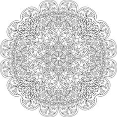 Mindful Compassion Mandala Coloring Page By Varda K.
