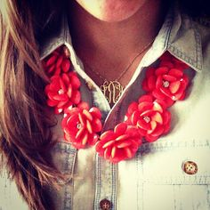 Southern Shopaholic | A Fashion and Lifestyle Blog by Krista Robertson: J Crew Rose Necklace