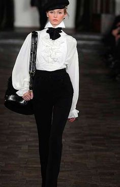 The Ralph Lauren Fall 2013 Collection is Tomboy Chic #fashion trendhunter.com