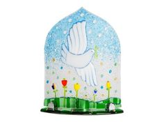 Glass Candleholder, $31.00.Order here: http://bit.ly/2fDCW5T#CatalogOfGoodDeeds #CatalogOfStElisabethConvent #Christian #Christianity #workshop #ourworkshops #StElisabethConventWorkshop #monastery  #Christmas #MerryChristmas #feast #gift #holidays #cybermonday #FusedGlass #Tree #HandmadeGift #GiftIdeas #Charity #presents #pendant #buygift #ChristmasGift #Cybermonday #HolidaySeason #glass