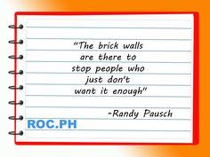 #Affiliate #AffiliateMarketing #AffiliateManager #AffiliateNetwork #Qoutes #ROCPH #RandyPausch