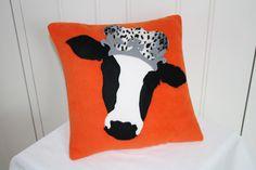 Royal cow cushion handmade