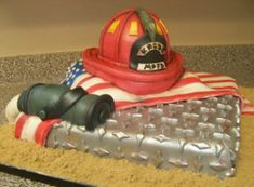 Fire Fighter cake by Jeff Taylor of Sweet T's Bakery - Oxford, MS  www.sweettsbakingmemories.com