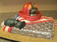 Fire Fighter cake by Jeff Taylor of Sweet T's Bakery - Oxford, MS www.sweettsbakingmemories.com