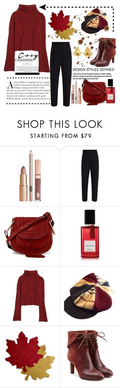 """Cozy Cashmere Day..."" by conch-lady ❤ liked on Polyvore featuring Chloé, Alexander McQueen, Diana Vreeland Parfums, Burberry, Homewear, Tiffany & Co., cashmere, falloutfit and cozycashmere"