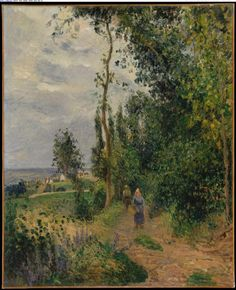 Côte des Grouettes, near Pontoise, probably 1878, Oil on canvas, 29 1/8 x 23 5/8 in. (74 x 60 cm), Gift of Janice H. Levin, 1991