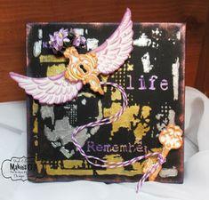 Makin's Clay® Blog: Wings Mixed-Media Canvas by Steph Ackerman