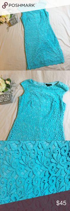 Ralph Lauren Blue Lace Dress Ralph Lauren blue lace dress, fully lined. Dry clean only. Size 8, beautiful dress.   🎉Make me an offer!🎉 Lauren Ralph Lauren Dresses