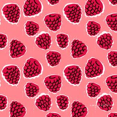 Creative Graphic, Design, Amywalters, Summerfruitsberries, and 05 image ideas & inspiration on Designspiration Art And Illustration, Pattern Illustration, Surface Pattern Design, Pattern Art, Red Pattern, Pattern Vegetal, Motifs Textiles, Conversational Prints, Arte Sketchbook