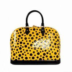 M93627 Louis Vuitton Yayoi Kusama Alma Pm Gelb Louis Vuitton Damen Taschen
