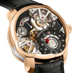 Greubel Forsey Invention Piece 2 This watch is really neat, but probably just a little too busy. Amazing Watches, Beautiful Watches, Cool Watches, Wrist Watches, Men's Watches, Swiss Luxury Watches, Luxury Watches For Men, Tourbillon Watch, Men Closet