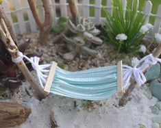 A Camping Hammock – Hammocks Ideas Beach Fairy Garden, Fairy Garden Houses, Gnome Garden, Garden Crafts, Garden Projects, Garden Ideas, Fairy Crafts, Garden Hammock, Fairy Garden Furniture