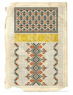 Folk Embroidery, Embroidery Patterns, Cross Stitch Patterns, Embroidered Clothes, Diy And Crafts, Moldova, Quilts, Romania, Crochet