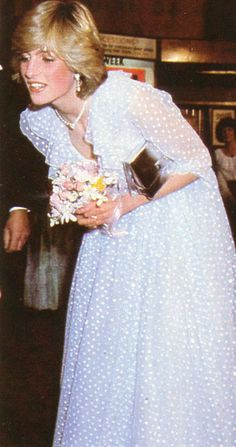 Oct 1982 Cardiff Wales, Diana visits the New theatre for a performance by the welsh National Opera