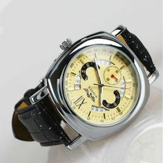 Men's watch / vintage style watch / handmade watch / leather watch / automatic mechanical watches (wat0046)