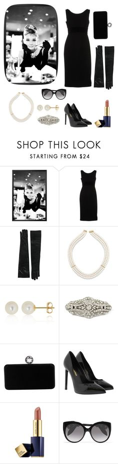 """The myth of real elegance: Audrey Hepburn"" by ladyasdis ❤ liked on Polyvore featuring Antonio Berardi, Allurez, Belk & Co., Swarovski, Yves Saint Laurent, Estée Lauder, Alexander McQueen, chic, pearl and audreyhepburn"