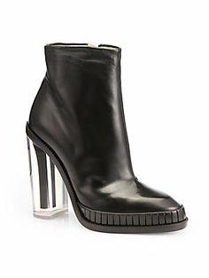 Maison Martin Margiela Leather Plexi-Heel Ankle Boots