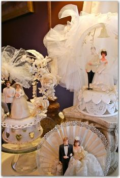 Vintage cake toppers.