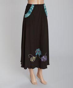 Look at this #zulilyfind! Black Lotus Maxi Skirt by Jayli #zulilyfinds