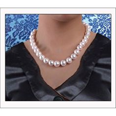 ESTATE VINTAGE White Cultured PEARL Necklace 18 inches 14k Yellow Gold  (11-12mm) by PearlsinStyleforYou on Etsy