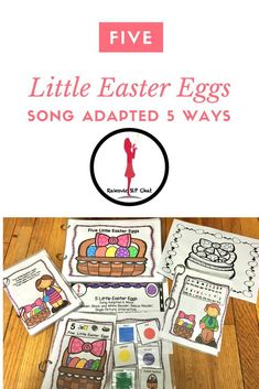 Five Little Easter Eggs: Fun Easter poem that has been adapted 5 ways. This is great for students to work on color recognition, beginning readers, ELLs, preschoolers. School Resources, Teaching Resources, Teaching Ideas, Easter Poems, School Songs, Five Little, English Language Learners, Reading Centers, Speech Therapy Activities