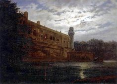 Detalles Artista:Carl Gustav Carus Obra:El Castillo de Warwick en el Avon por la noche Año de origen:1859