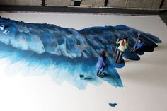 """""""Sisyphe et Icare"""" - Marc Van Helden  Peinture grand format"""