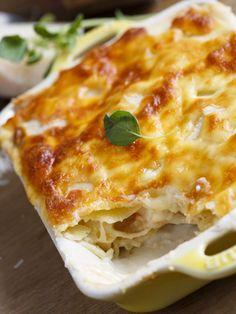 Lasagnes trois fromages - Recette de cuisine Marmiton : une recette                                                                                                                                                                                 Plus