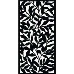 0.6 in. x 71.6 in. x 2.95 ft. Tangle Recycled Plastic Charcoal Decorative Screen (